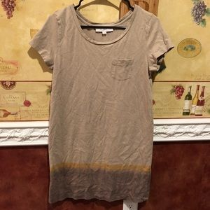 LOFT ombré tee shirt dress